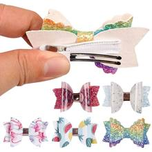 Fashion 1PC Print Hairpins Princess Swallowtail Hair Accessories 19 Colors Lovely For Girls Bling Clips