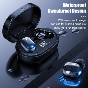 PJD A6S Plus TWS Wireless Bluetooth Headsets Earphones Stereo Headphones Sport Noise Cancelling Mini Earbuds for All Smart Phone 3