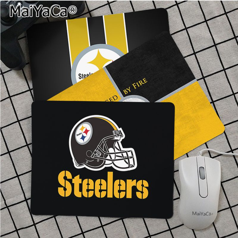 Maiya High Quality Pittsburgh Steelers Durable Rubber Mouse Mat Pad Smooth Writing Pad Desktops Mate Gaming Mouse Pad