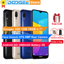 "Doogee x90 1 기가 바이트 16 기가 바이트 휴대 전화 물방울 화면 6.1 ""디스플레이 3400 mah 8mp 카메라 얼굴 잠금 해제 3g wcdma 스마트 폰"