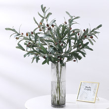 Artificial Olive Branches Leave With Fruits for Home Wedding Decoration Accessories Diy Vase Decoration Green Artificial Plant
