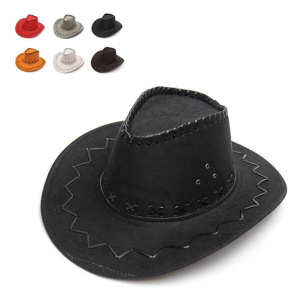 Unisex Cowgirl Cowboy Hat For Child Kids Boy Girl Wild West Fancy Party Costumes Casual Sun Hats Fashion Western Headwear Cap
