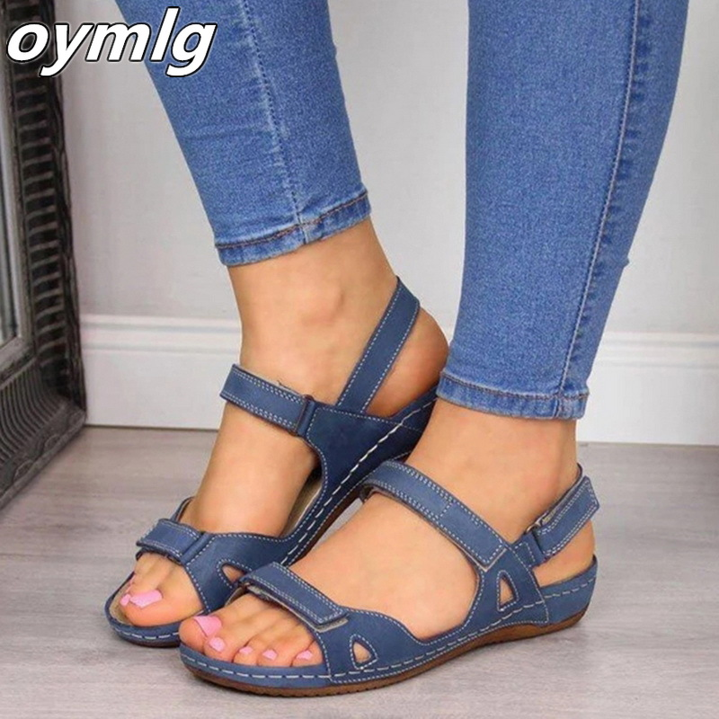 Women Summer Sandals Flat Open Toe Non-slip Shoes Woman Casual Platform Ladies Office Party Sandal Dropshipping Zapatos De Mujer