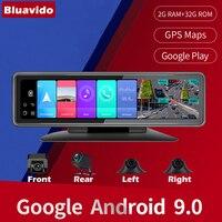 Bluavido 4 telecamere 4G Android 9.0 Car Dash Cam navigazione GPS HD 720P videoregistratore Dashboard DVR WiFi App monitoraggio remoto