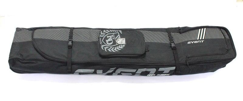 Outdoor Wheeled Ski Veneer Double Plate Universal Board Bag Consign Airport Skiing Boots Bag Surfboard Dumpling Skin