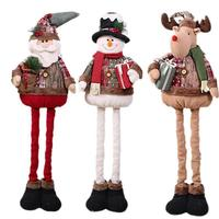 Christmas Decoration Santa Snowman Reindeer Telescopic Standing Telescopic Doll Doll Mall Hotel Window Decoration Decoration