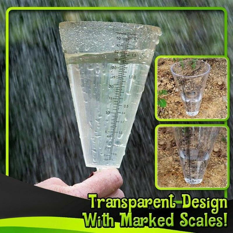 Conical Rain Meter Gauge Plastic Transparent Measuring Cup for Outdoor Garden 50 Millimetre LYDQ Rain Meter Gauge