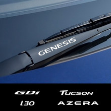 4 шт., наклейки на автомобильные стеклоочистители для Hyundai Elantra Accent Tucson i40 i30 i10 i20 Veloster IX35 IX20 Solaris Genesis Santafe GDi