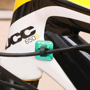 5 sztuk paczka drut ze stopu aluminium siedzisko kształtne zapięcie samoprzylepne wąż rowerowy mocowanie rama siedziska prowadnica drutu kabel naprawiono zacisk tanie i dobre opinie CN (pochodzenie)