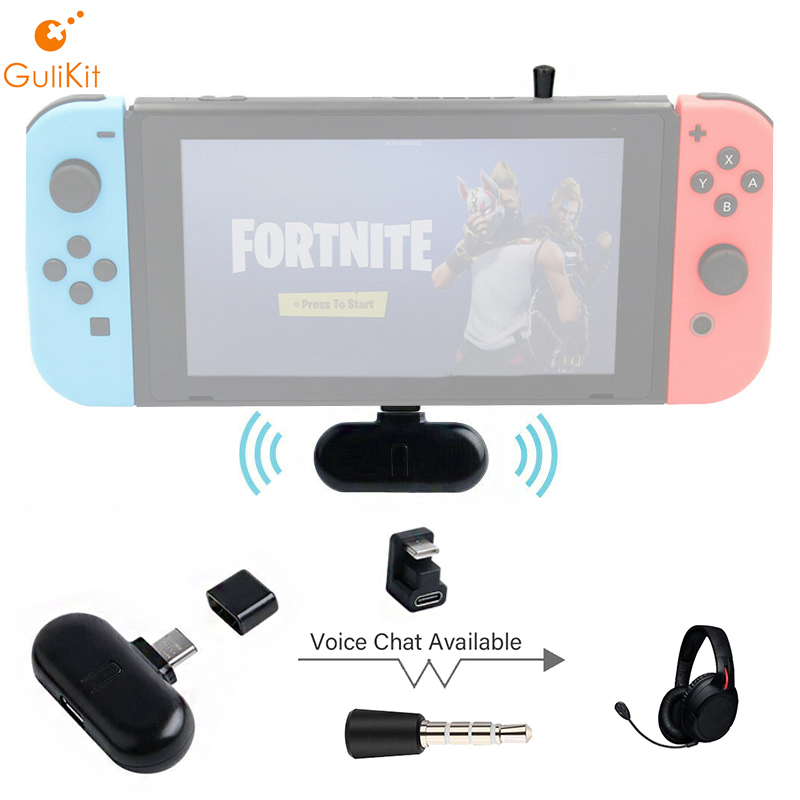 GuliKit Route+ Pro Wireless Buletooth Audio USB Receiver Transmitter with 3.5mm microphone for Nintendo Switch(China)