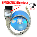 Новейший ИНПА K + CAN FT232RQ чип с переключателем OBDII Диагностический кабель для BMW 20pin INPA K DCAN USB интерфейс автомобильный инструмент
