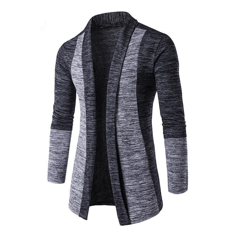 Men Cardigan Streetwear Long Sleeve Casual Patchwork  Knitted Sweaters Autumn Winter Mens Slim Fit Overcoat Plus Size 4XL