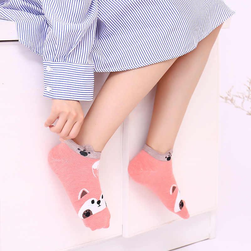 Nhật Bản Hoạt Hình Dễ Thương Tất Hình Thú Gấu Trúc Thỏ Nữ Đôi Tất Cotton Mùa Thu Đông Thời Trang Bé Gái Cổ Cáo Chó Sock WZ4