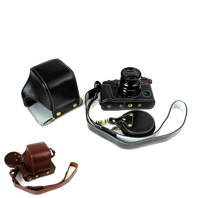 Luxury Genuine Leather Camera Case For Fujifilm X-PRO3 Fuji X-PRO 2 Camera bag Open Battery Design +Strap +Min Battery Case