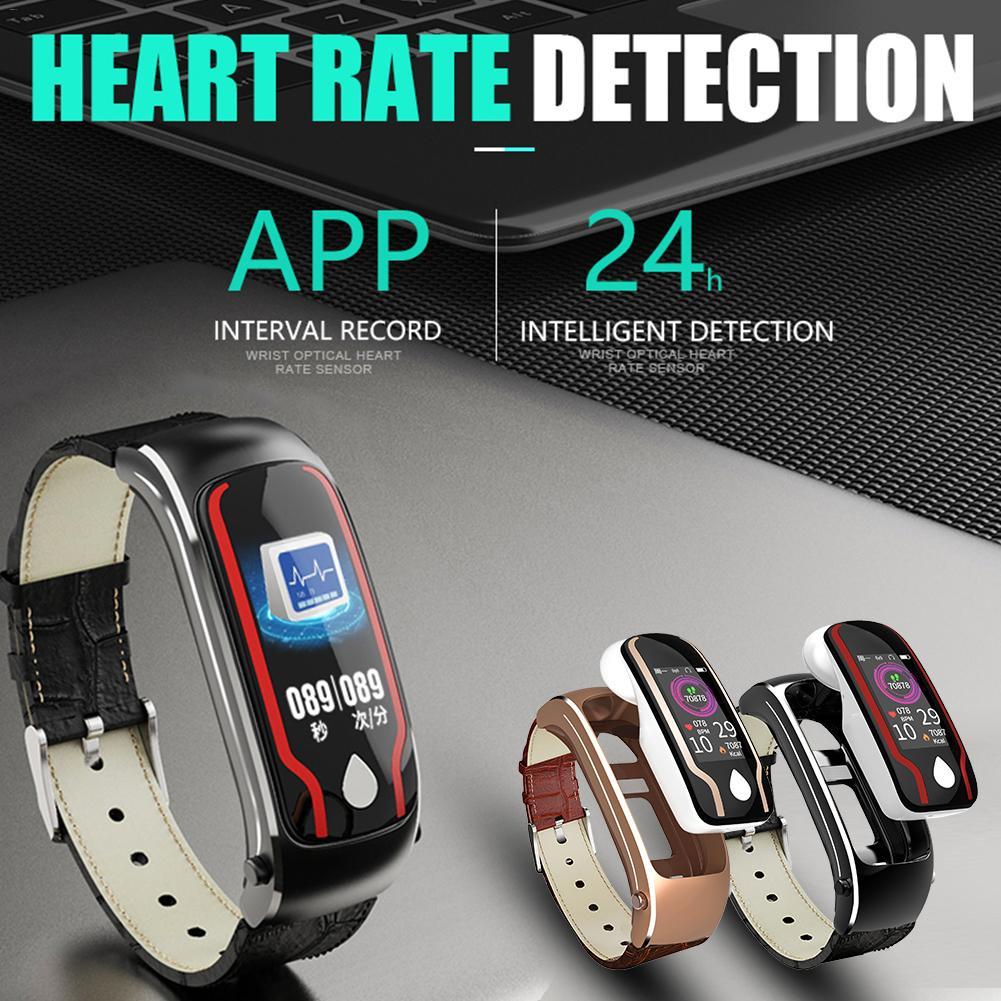 Y9 sport Bracelet intelligent Fitness Tracker montre de santé 2 en 1 Bluetooth casque sans fil stéréo écouteurs multifonction Bracelet