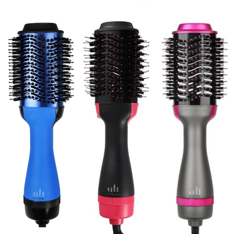 New One Step Hair Dryer And Volumizer, ManKami Salon Hot Air Paddle Styling Brush Negative Ion Generator Hair Straightener