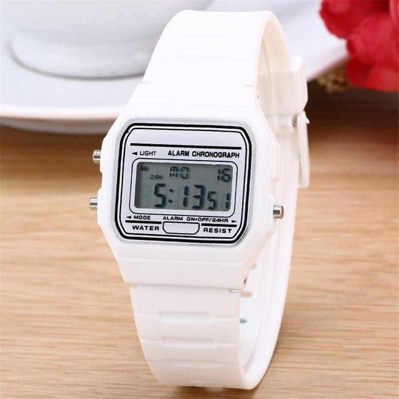 Nuevo reloj de pareja de silicona de oro y plata de moda reloj Digital cuadrado militar para hombre/mujer reloj deportivo para hombre