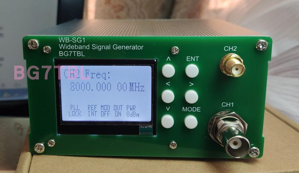By BG7TBL WB-SG1 1Hz-8GHz Broadband Signal Source Signal Generator Band On-off Modulation Free Shipping