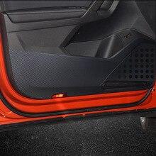 цена на Car Door Anti-kick Pad Stickers Carbon Fiber Door Protection Side Edge Film For Ford ESCORT 2015 Car Styling Accessories