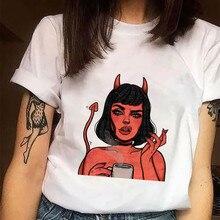 Women Tshirt 2020 Fashion Unisex Casual Horror Graphic T Shirt Tops E Girl Style