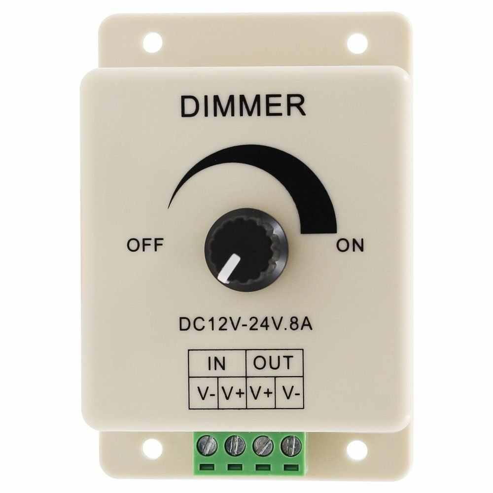 Регулируемый светодиодный диммер 12 в 24 В яркость лампы полосы драйвер один цвет свет контроллер электропитания 2835 5050 светодиодный светильник