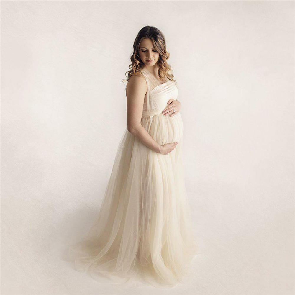 Tulle Sexy Maternity Dresses Photography Props Long Fancy Pregnancy Dress Mesh Pregnant Women Maxi Gown Clothes For Photo Shoots (3)