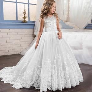 Image 2 - Elegant Kids Girls Princess Dress Flower Girls Wedding Dresses For Girls Birthday Children Evening Party Dress Vestido 4 14 Year