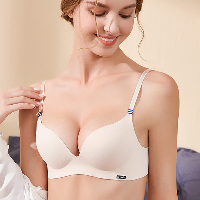 DERUILADY Comfortable Wireless Bras For Women Sexy Lingerie Fashion Adjusted Seamless Bralette Female Push Up Bra Underwear