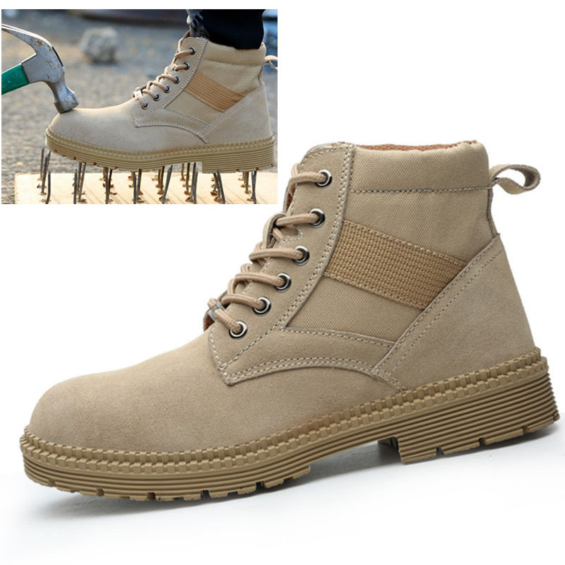 Men Steel Toe Work Safety Shoes Waterproof Casual Outdoor Sneakers Puncture Proof Ankle Boots Male Indestructible Shoes SH09242 image