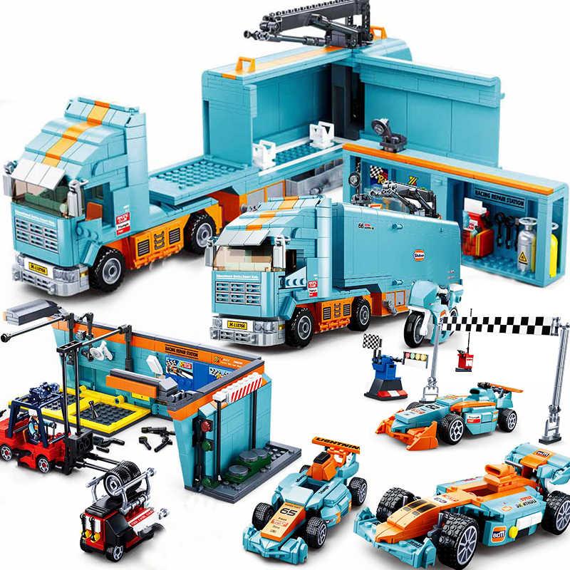 F1 Compatible Race Car Speed Racer Repair Building Block Set Bricks Racing Venues Motorcycle Game Fit Lego Aliexpress