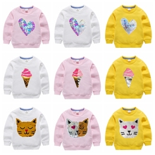 Baby Girls Butterfly Sweatshirts Long Sleeves Clothes