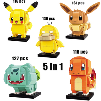 new 2pcs 3pcs 4pcs Pikachu pokemon Classic movie building block model set for girls and boys toy birthday gifts 1