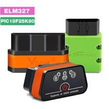 Konnwei KW902 Bluetooth/Wifi ELM327 V1.5 V2.1 PIC18F25K80 narzędzia diagnostyczne OBDII ELM 327 czytnik kodów OBD2 obsługa protokołu J1805
