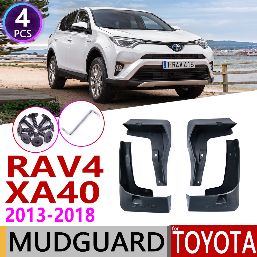 Car Mudflap for Toyota RAV4 RAV 4 XA40 40 2013 2018 Fender Mud Guard Splash Flaps Mudguards Accessories 2014 2015 2016 2017 4th