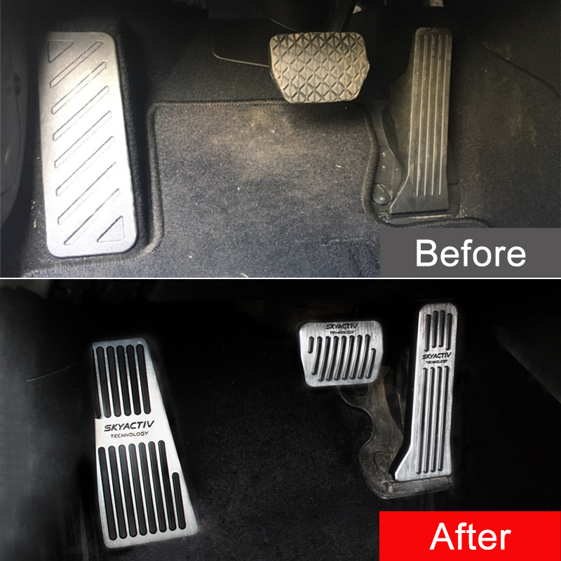 SLONG Brake Pedals for Car Vehicle Accelerator 3 PCS Blue