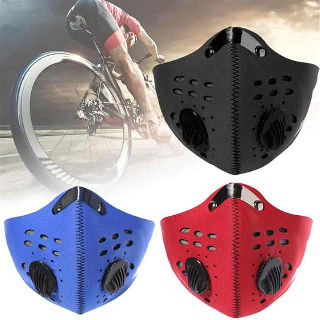 Dust Protective Mask Breathable Dustproof Double-valve Face Mouth Mask For Pollution Protection Pollen Allergy Running Cycling