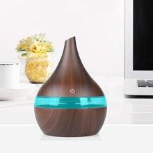 300ml USB Electric Aromatherapy Air Diffuser Wood Grain Ultrasonic Air Humidifier Cooling Fog Machine
