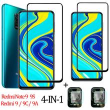 4-IN-1 Glass xiaomi red mi note 9 pro Camera Redmi 9 9A 9C Note 9S Screen Protector for xiaomi redmi note 9pro Redmi Note 9