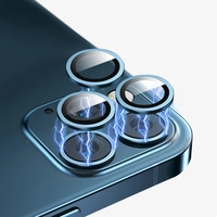 For iPhone 12 Pro Max Metal Ring Glass 13 11 pro Cover Camera Lens Protectors for iPhone 12pro max 12mini 12pro Protective Cap 2