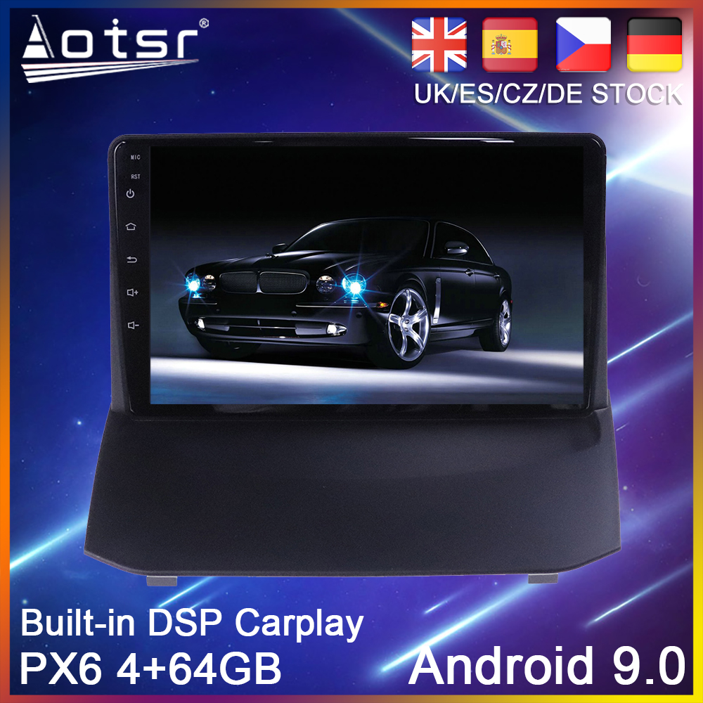 Android 10 PX6 64G Car DVD Player GPS Navigation For Ford Fiesta Mk 6 2008-2013 Car Auto Radio Stereo Multimedia Player HeadUnit image