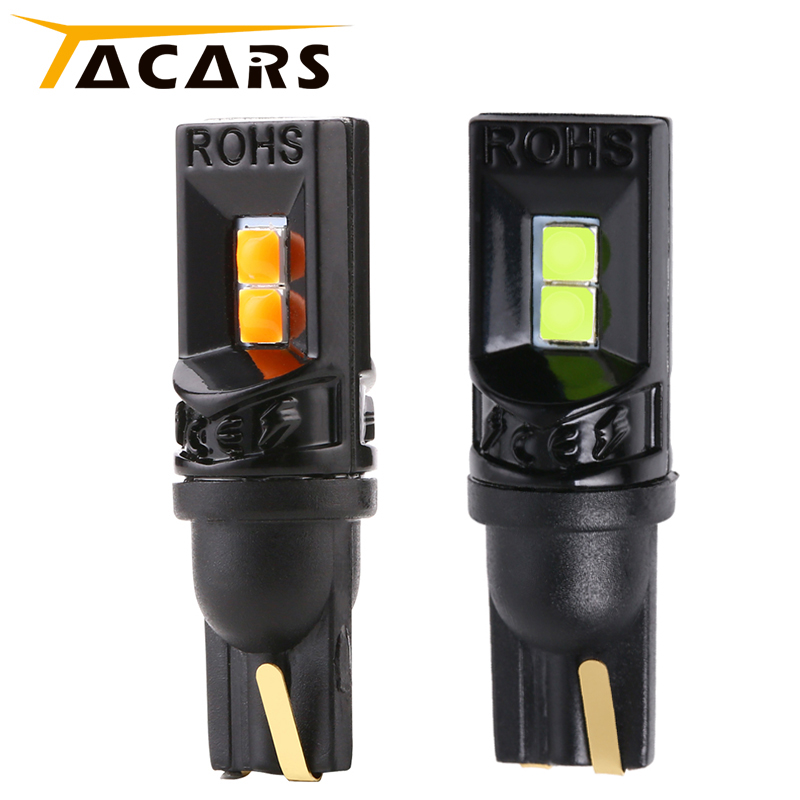 2Pcs T10 Led Canbus W5W Led Bulbs 168 194 White Signal Lamp Dome Reading License Plate Light Car Interior Lights Auto 12/24V