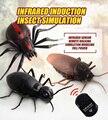Spoof piada alta simulação de controle remoto infravermelho inseto modelo barata aranha formiga brinquedo animal complicado