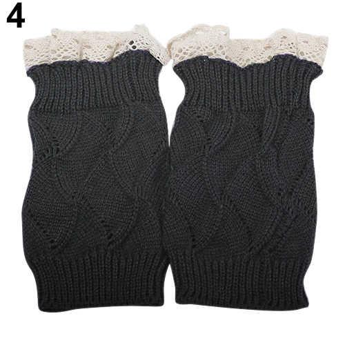 2019 yeni kadın kış örme dantel bacak isıtıcıları çorap hediye yüksek kaliteli çizme çorap