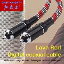 Серый рыцарский лавовый Красный аудио цифровой коаксиальный кабель COAX/AL S.PDIF линия подключения усилитель мощности hifi кабель переднего и зад...