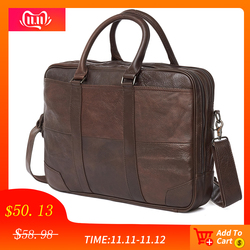 JOYIR Business Aktentasche Aus Echtem Leder Männer Tasche Computer Laptop Handtasche Mann Schulter Tasche Messenger Bags männer Büro Handtasche