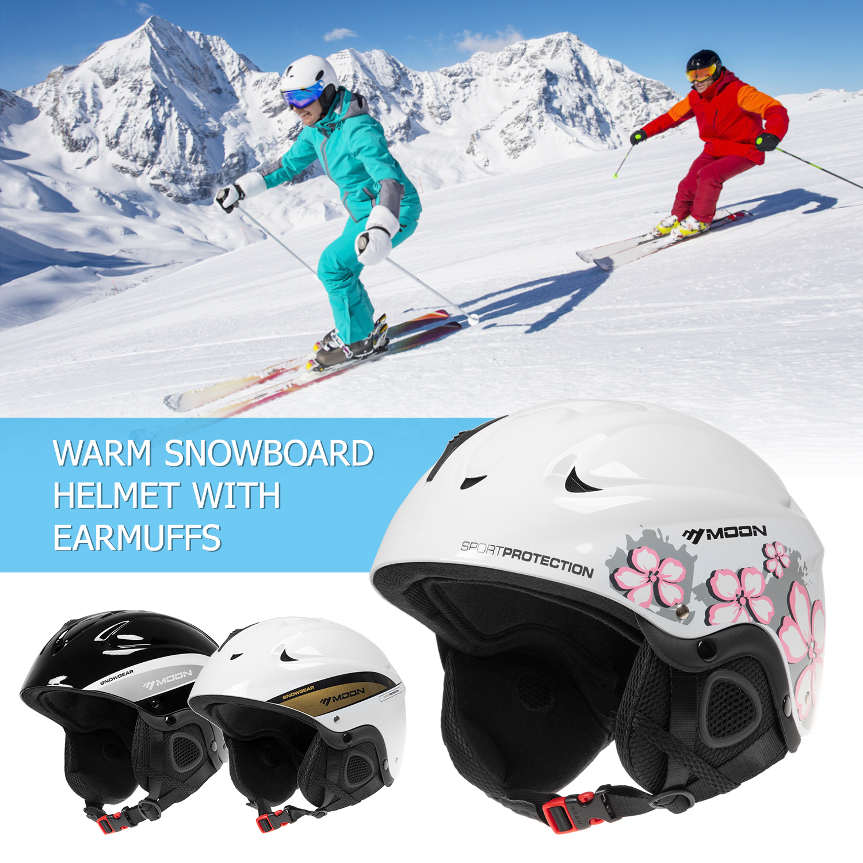 Professional Skiing Snow Sports Helmet Snowboard Helmet Earmuffs Women Men Safety Skiing Helmet Ski Helmet Integrally-molded