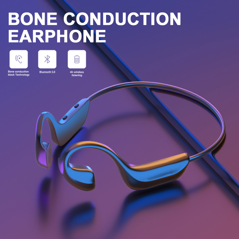 NEW Bone Conduction Headphones Bluetooth 5.0 Headsets Wireless Sports Earphones Handsfree Headsets Drop Shipping Earphone