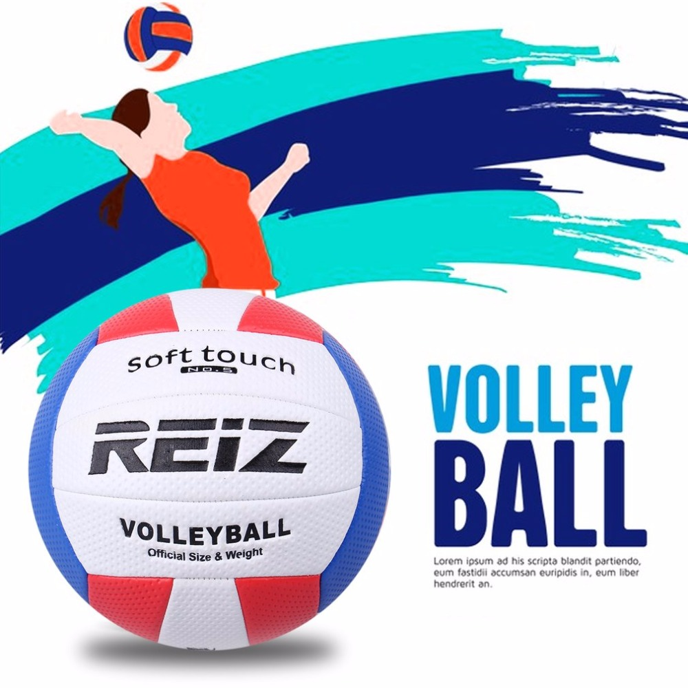 2019 Soft Touch PU Leather 5# Volleyball Ball Outdoor Indoor Training Competition Standard Volleyball Ball For Students