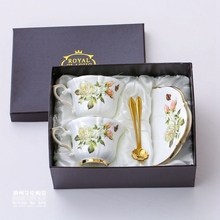 Boreal Европейский стиль Костяной фарфор кофейная чашка пасторальная белая роза английский день чашка и блюдце Набор подарочных коробок