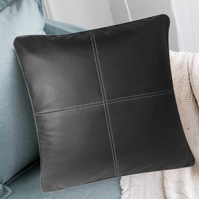 45cm pu cushion covers faux leather